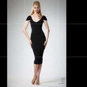 Leona Edmonton Little Black Dress cold shoulder